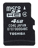 Toshiba 4GB Class 4 Micro SDHC card