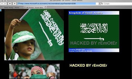 Saudi hackers spray digital graffiti