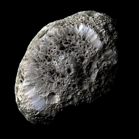 Hyperion, Saturn's moon, as imaged by Cassini. Credit: CICLOPS