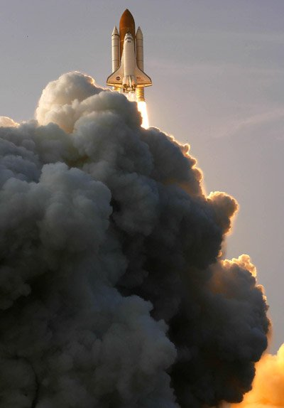Endeavour lifts off. Credit: NASA