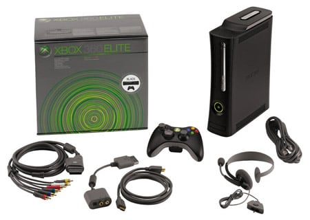 Xbox 360 Elite box contents