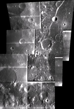 SMART-1 AMIE image mosaic of the edge of Mare Humorum
