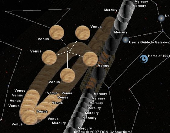 Venus, as seen on Google Sky