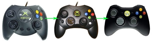 The evolution of Xbox control pads