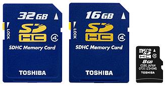 Toshiba SDHC cards