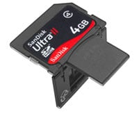 4GB SanDisk Ultra II SDHC Plus card