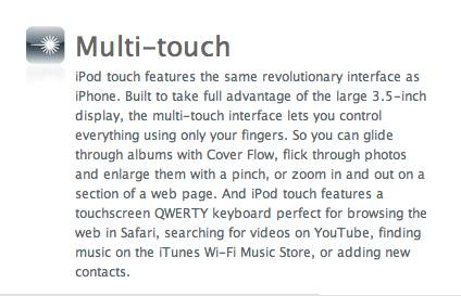 Multitouch blurb without calendar