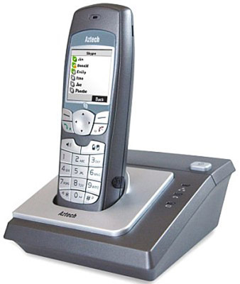 Aztech V500DS-S1 PC-free Skype &amp; DECT phone