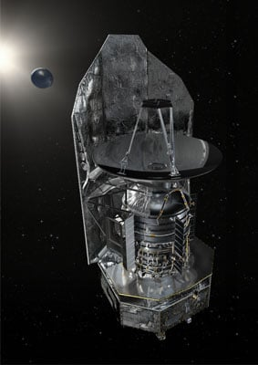 Artist's impression of the observatory out in space. Credit: