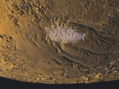 Ice on Mars. Credit: NASA/MOLA Science Team