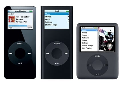 Apple's iPod Nano: old and new side by side
