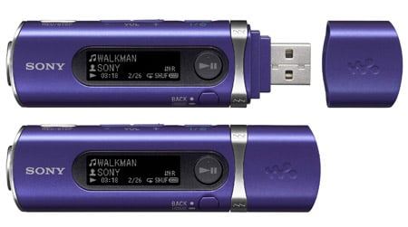 Sony NWD-B105 MP3 player in violet
