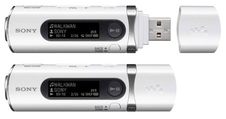 Sony NWD-B105 MP3 player in white