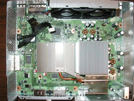Xbox 360 'Falcon' heatsink - image courtesy JWSpeed