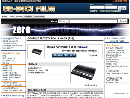 Se-Dici Film's PS3 page