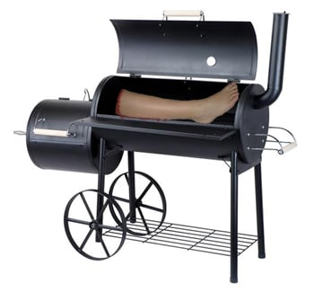 Our Artist's impression of how we think leg in cooker looked like