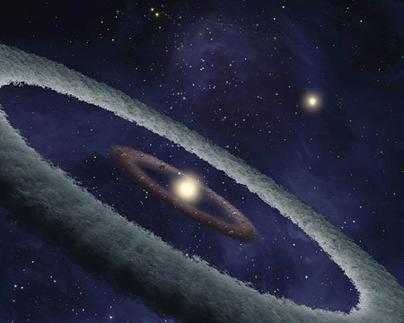 Artists' impression of the forming planet