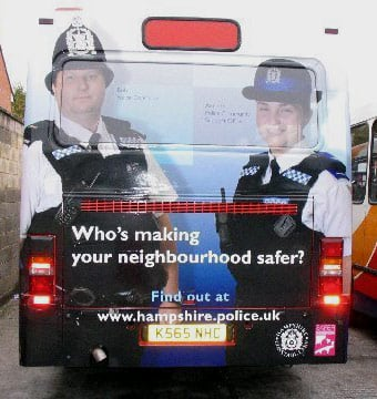 Hampshire police ad on