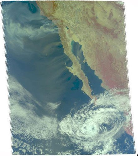 NASA's Aqua satellite image of the California wildfires