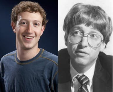 Bill Gates and Mark Zuckerburg