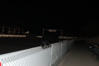 Shot of the finish line