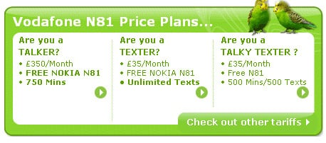 Vodafone N81 rip-off monthly rental