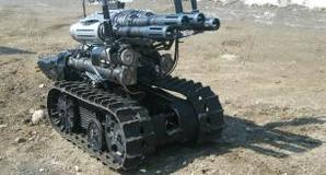 Metal Storm on a robot