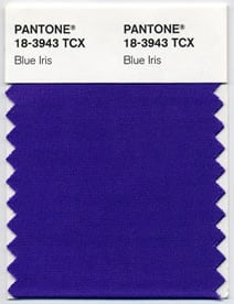 Pantone's colour of the year - Iris Blue