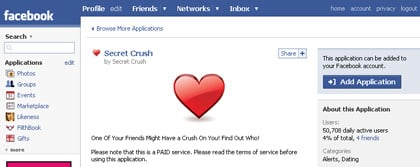 Secret Crush pushes adware