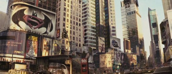Batman-Superman film poster seen in I am Legend