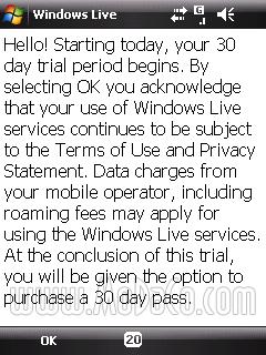 Mobile Windows Messenger Asks For Money