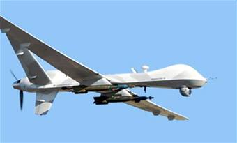 The MQ-9 Reaper drone in flight