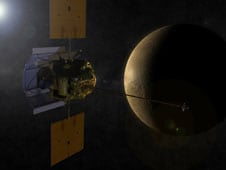Artist's impression of Messenger at Mercury. Image: NASA/APL