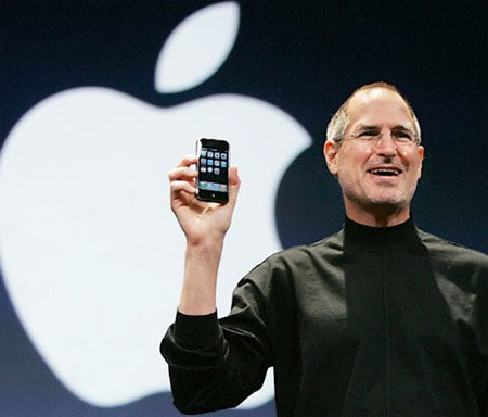 Steve Jobs unleashes the iPhone at Macworld last year