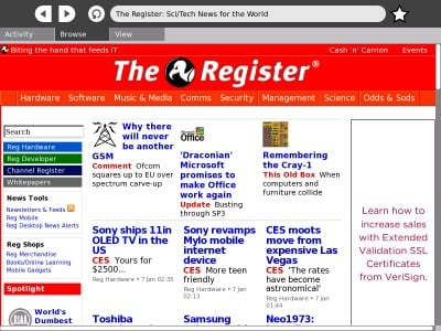 The XO's default web browser - click to enlarge