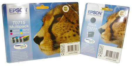 Epson Stylus D120 colour inkjet printer cartridges