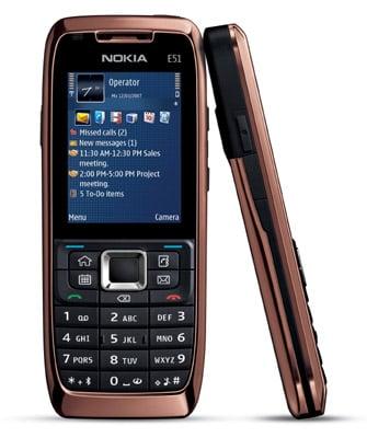 Nokia E51 smartphone