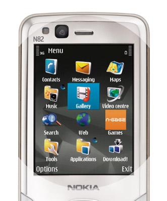 Nokia N82 menu