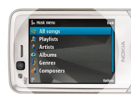 Nokia N82 music player