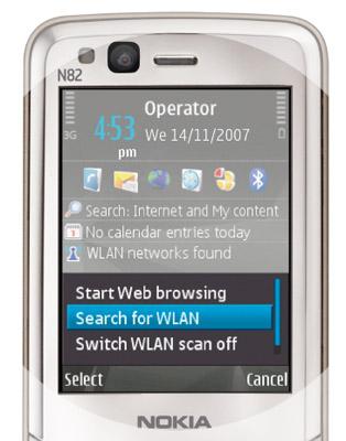 Nokia N82 WLAN