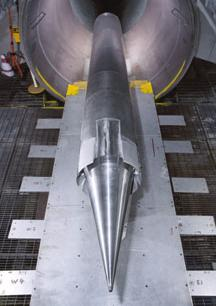 HyFly dual-combustion ramjet in windtunnel tests