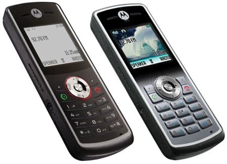 Motorola W161 (left) and W181 (right)