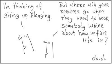 giving up blogging