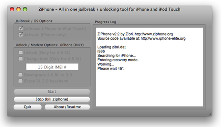 ZiPhone 2.2 on the Mac