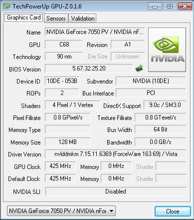 Shuttle XPC SN68PTG6 - CPU-Z