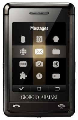 Armani Samsung P520 mobile phone