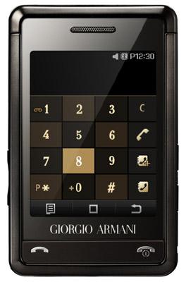 Armani Samsung P520 mobile phone