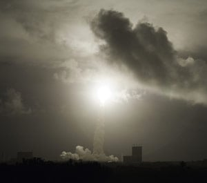 Liftoff of the Ariane 5 ES-ATV launcher. Pic: ESA/CNES/ARIANESPACE - Activité Photo Optique Video CSG