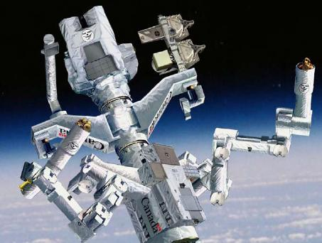 The Canadian 'Dextre' space station robot. Two arms, three tools,