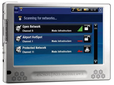 Archos 705 Wi-Fi mobile DVR